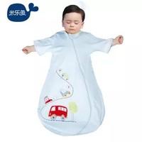 米乐鱼 儿童睡袋婴儿抱被四季款包被宝宝一体款防踢被汽车总动员 单层蓝色70*48cm *2件
