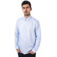 银联专享:BEN SHERMAN 男式蓝色斜纹衬衫