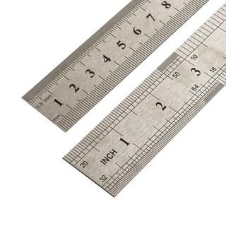 金达羽 不锈钢直尺 15cm 2把装