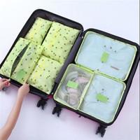 李绅 新款韩版大容量衣物旅行包收纳包 绿樱桃