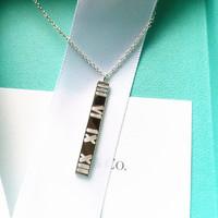 Tiffany&Co. 蒂芙尼 atlas罗马数字镂空线条项链