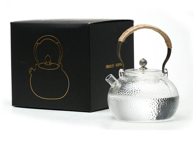 品茶忆友 耐高温玻璃茶壶 600ml 透明