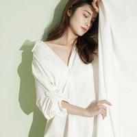 DAPU/大朴 针织男朋友衬衫裙