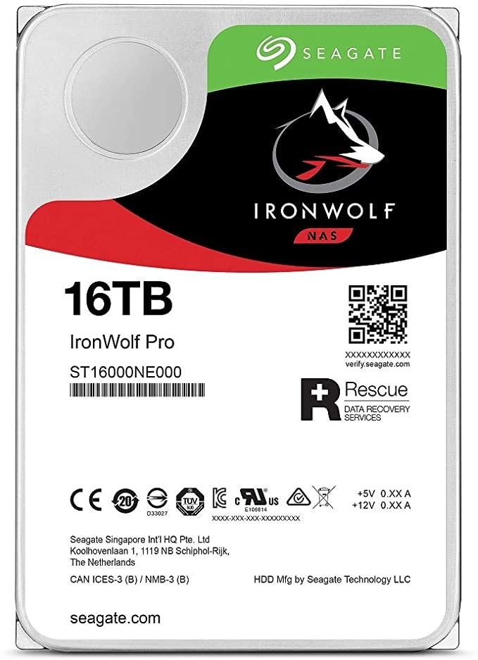 SEAGATE 希捷 IronWolf Pro 酷狼专业版 NAS硬盘 16TB