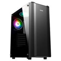 先马(SAMA)艾斯/黑金刚 中塔式电脑主机箱 侧透U3/支持ATX主板、SSD、背线240水冷位 艾斯 黑色 标准