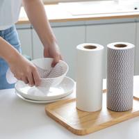 纳合 一次性免洗抹布洗碗巾 厨房不沾油吸水清洁巾点断 混色2卷(100片)