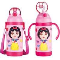 Disney 迪士尼 粉色公主系列 HC2083-P 儿童不锈钢保温杯 380ml 粉色