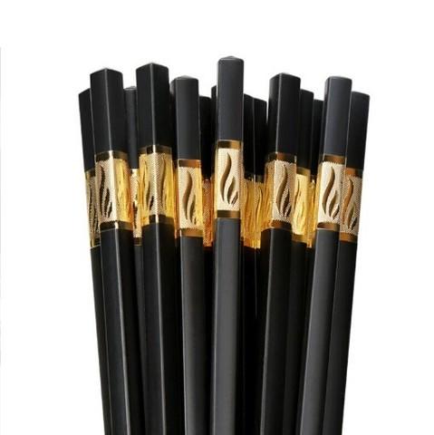 Suncha 双枪  KZ4061 合金筷子套装 欣欣向荣 10双装 24cm 金色