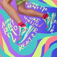 NIKE 耐克 AIR MAX 270 REACT 男子运动鞋