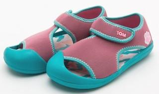 TalkingTom 会说话的汤姆猫 儿童鱼嘴凉鞋 1202106 粉色/蓝色 28