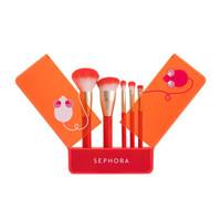Sephora 丝芙兰 机智小萌鼠玩趣化妆刷套装 刷具5把+刷盒1个