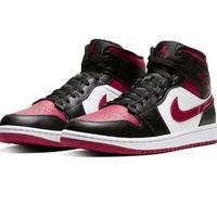 Air Jordan 1 Mid AJ1 554724-066 黑红脚趾 男子篮球鞋