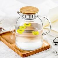 佳佰 大容量耐热玻璃凉水壶 1700ml