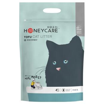 好命天生(Honeycare)猫砂玉米猫砂2.6Kg 植物豆腐猫砂除味结团无尘猫砂 可冲厕所宠物猫咪用品