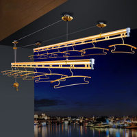 宝优妮 DQ9001-6 自动双杆式晾晒架晾 1.5米 喷砂金