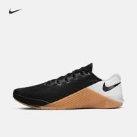 Nike 耐克官方 NIKE METCON 5男/女训练鞋新款 情侣款AQ1189-009/METCON 黑色/白色/棕色 42