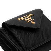 PRADA 普拉达 1MH021-QWA-F0002 小牛皮女士黑色钱夹