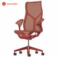 Herman Miller 赫曼米勒 Cosm 座椅 叶片式扶手 峡谷红(高背)