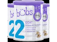 澳洲进口贝儿Bubs羊奶粉 婴幼儿宝宝奶粉800g 2段 3罐装
