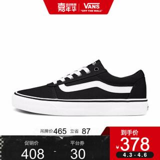 Vans范斯 运动休闲系列 Ward帆布鞋新款低帮女子黑色官方 黑色VN0A3IUN187 37