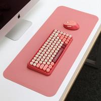 镭拓(Rantopad)S5 鼠标垫超大皮质皮革防水桌垫 笔记本电脑办公垫PU防滑键盘垫  粉红