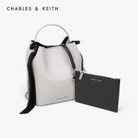 CHARLES&KEITH CK2-10270335 蝴蝶结饰水桶包