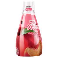 日本进口德露宝儿童漱口水宝宝专用3-6-12岁防蛀可吞咽水蜜桃果味340ml *3件
