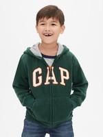 Gap/盖璞 男孩 Gap徽标袋鼠口袋长袖连帽卫衣