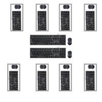 现代有线键鼠套装USB接口键盘鼠标键鼠套装办公套装HY-MA75黑色