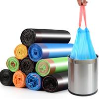 京东PLUS会员 : 京惠思创 手提式垃圾袋90只 自动收口卷装加厚彩色 JH8020 *7件