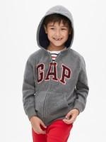 Gap 盖璞 473677 男孩 Gap徽标袋鼠口袋长袖连帽卫衣