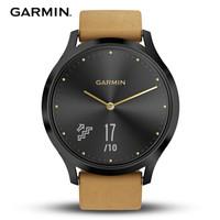佳明(GARMIN)vivomove hr 运动健康活动监测光学心率智能通知指针隐藏式触摸屏智能手表 经典版M号 摩登黑