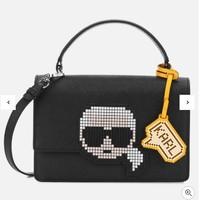 Karl Lagerfeld 卡尔拉格斐 K/Pixel 老佛爷卡通头像 女款手提包