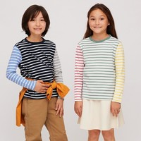 UNIQLO 优衣库 男童/女童 条纹圆领T恤 424492