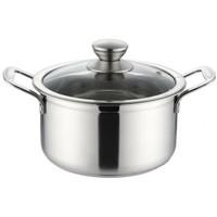 304不锈钢汤锅复底加厚锅家用煤气炉电磁炉通用