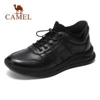骆驼男鞋春季新款真皮男士休闲皮鞋潮鞋时尚男百搭低帮鞋子运动鞋