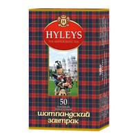 豪伦思 (HYLEYS 红茶 苏格兰早餐红茶袋泡茶包 50包*1.5g *5件