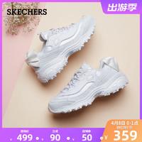 Skechers斯凯奇厚底松糕熊猫鞋老爹鞋女士蝴蝶结运动休闲鞋13168