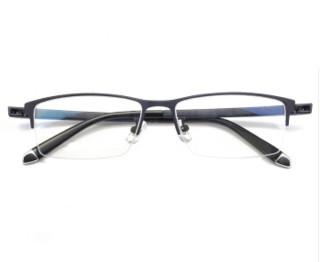 HAN HD4931 防蓝光半框眼镜架+1.56防蓝光近视镜片 *2件