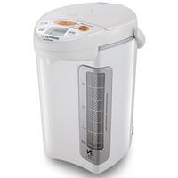 象印(ZO JIRUSHI)电热水壶日本进口不锈钢VE真空保温断电给水电热水瓶CV-DDH40C-WP(白色)