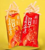 喜盈盈一口虾虾酥条3种口味薯条休闲零食80g*6大包
