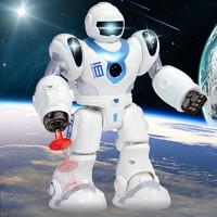 FUDAER 儿童机械战警电动机器人玩具 3-6岁宝宝有声光发射软弹自动行走太空战警男孩玩具 *2件