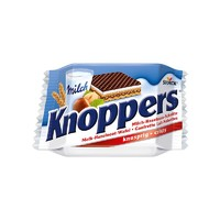 德国进口Knoppers牛奶榛子巧克力威化饼干 10*25g *3件