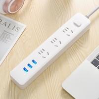 WOOKATE 羽凯 USB插线板 三插位+3USB 1.6米