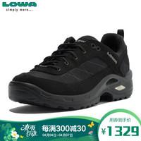 LOWA 德国 徒步鞋作战靴户外防水登山鞋 TAURUS II GTX 进口男款低帮 L310527 黑色 42