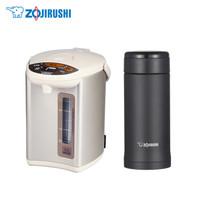 象印(ZO JIRUSHI)电热水瓶家用电水壶烧水壶保温杯饮水套装(WDH30CCM+AZE35BA)