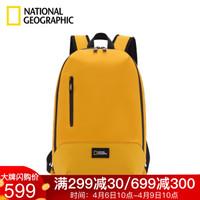 国家地理NATIONAL GEOGRAPHIC双肩包男女背包旅行大学生电脑包时尚潮流学生书包 黄色