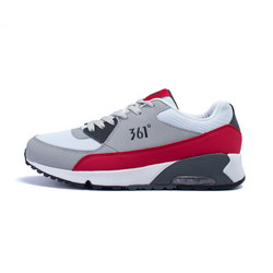 361度男鞋运动鞋时尚复古跑步文化鞋气垫缓震旅游休闲鞋子671542241白/红41 *2件