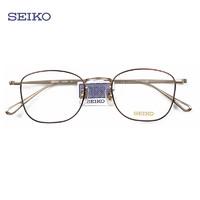 SEIKO 精工 H03097 纯钛超轻眼镜架+essilor 依视路 钻晶A3 1.56折射率 非球面镜片 *2片