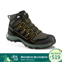 萨洛蒙(Salomon)男款户外时尚中邦防水徒步鞋 ONIS MID GTX 灰色410894 UK7.5(41 1/3)